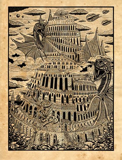 La Tour de Babel 3 couleurs